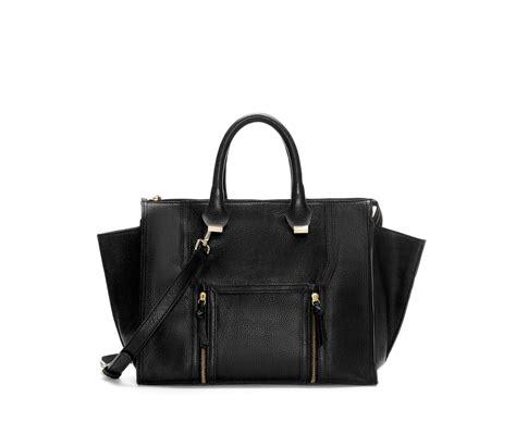 Zara Bag Black zara leather city bag with pocket and zips in black lyst