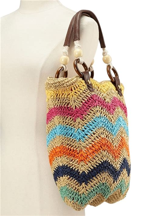 zig zag crochet pattern bag 2386 zigzag crochet straw bag
