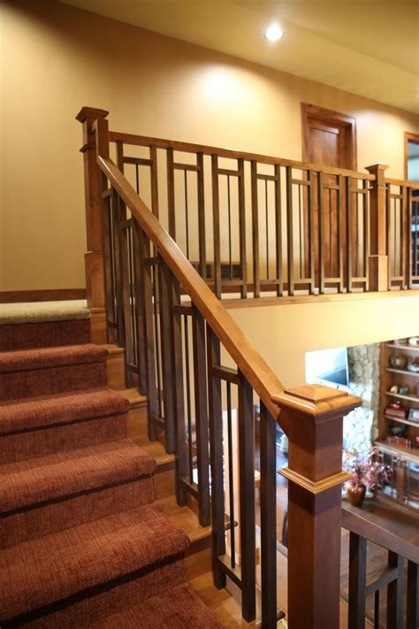 Wood And Style by Stair Systems Craftsman Style Stair With A Mix Of