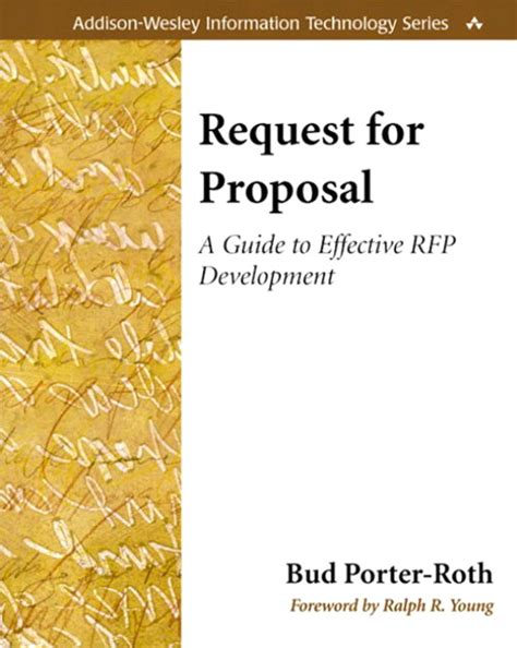 cover design request request for proposal a guide to effective rfp development