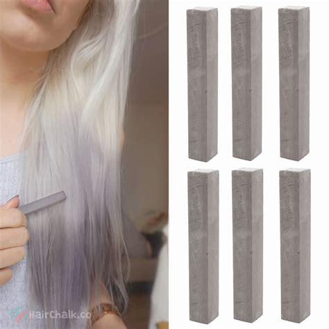 chalk hair color best ash gray hair dye set cloudy 6 grey hair