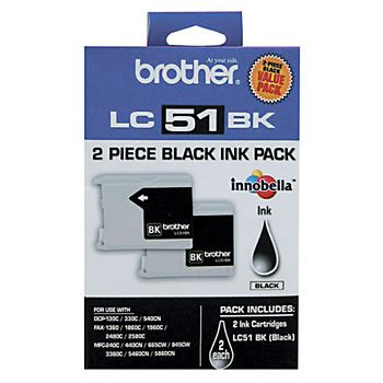 office depot coupons brother ink brother 174 lc51 black ink cartridges pack of 2