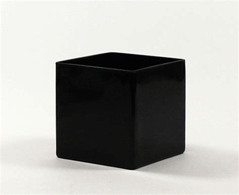 Square Vase by 5 Quot Black Square Vases 5 Quot Black Cube Vase
