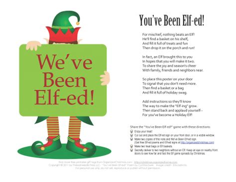 elf gift passing game free you ve been ed start a neighborhood tradition organized