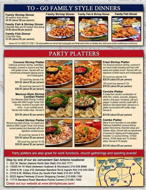 shrimp house sea island shrimp house seafood restaurant menu in san antonio