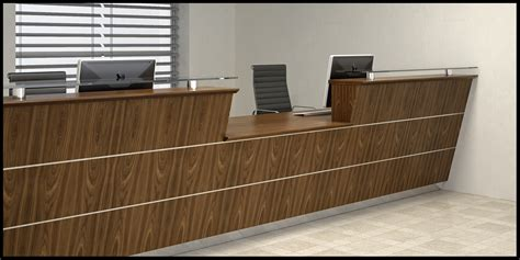 walnut reception desk bespoke veneer reception desk