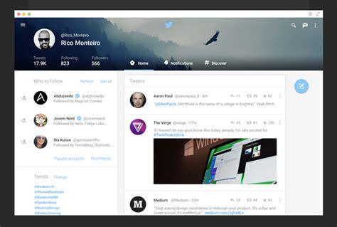 google design twitter incredible exles of google material design of major