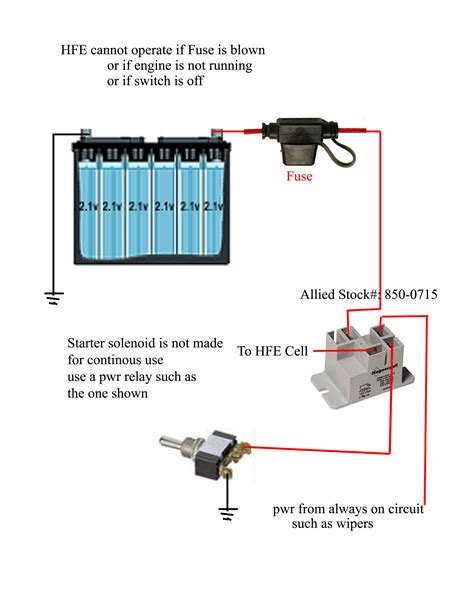 hho cell wiring diagram hydrogen cell diagram