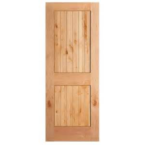 home depot interior wood doors masonite 36 in x 84 in knotty alder veneer 2 panel plank v groove solid wood interior barn