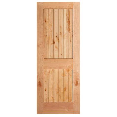 Oak Wood Doors Interior Masonite 36 In X 84 In Knotty Alder Veneer 2 Panel Plank