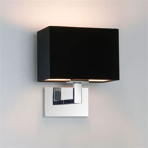 chrome wall lights with black shades astro connaught polished chrome wall light with black
