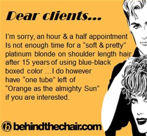 hairdressers dunedin no appointment 176 best hairdresser humor images on pinterest hair