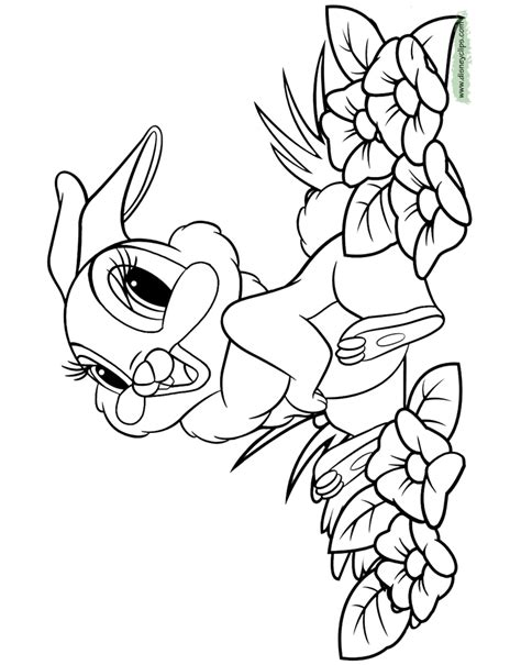 bambi coloring pages  disneys world  wonders