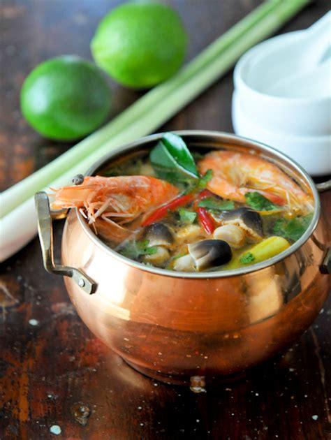 Tom Yum Goong and sour shrimp soup tom yum goong ต มยำก ง cooks thai