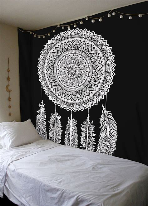 Floor And Decor Coupon queen black amp white dream catcher mandala wall hanging