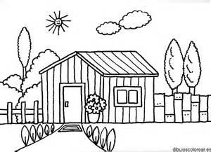 dibujos casa colorear az dibujos colorear