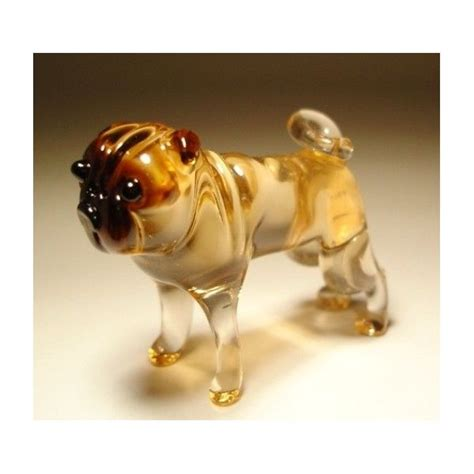 pug figurines glass pug blown glass pug figurine objets d