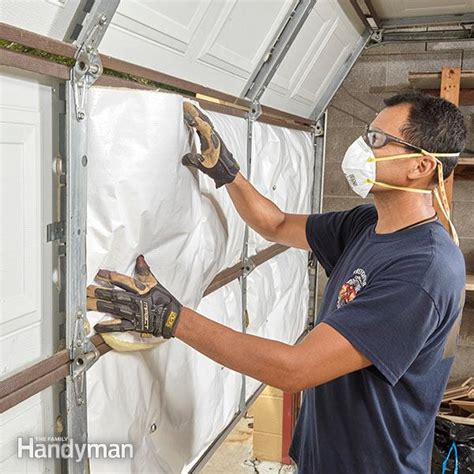 how to insulate a garage door exactly how to insulate a garage door family handyman