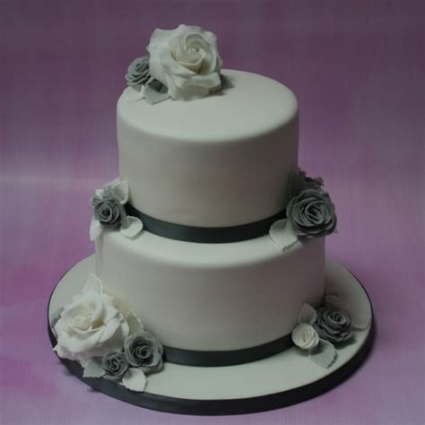 Wedding Cake Tiers by Silver And Grey Wedding Cake 2 Tier