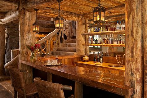 rustic home decor design rustic home bar design decoist