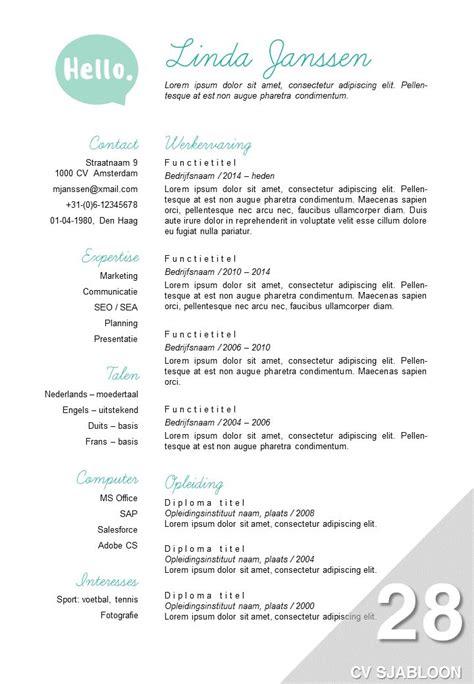 Sjabloon Europass Cv 36 best images about sollicitatie tips on