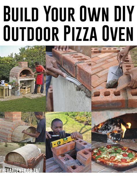 diy how to build an outdoor pizza oven step by step plans free