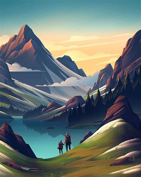 Landscape Illustration 35 Scenic Landscape Illustrations With Vibrant Colors