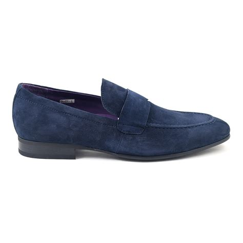 Casual Suede Navy shop mens navy suede loafers gucinari mens loafers
