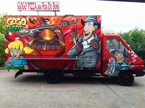 camino pizza camion pizza decoration graffiti toulon de