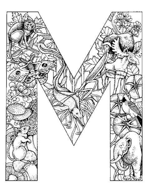 Alphabet M Coloring Pages by Letter M Coloring Pages Az Coloring Pages