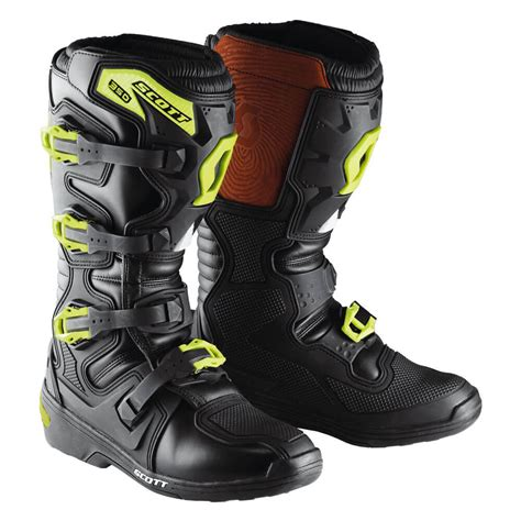 green motocross boots motocross boots scott 350 boot black green insportline