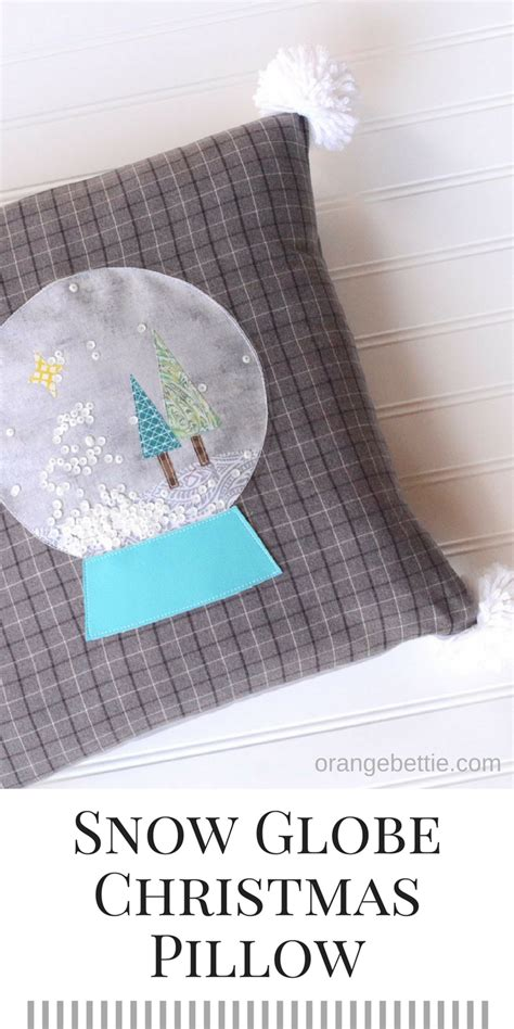 Globe Pillow by Snow Globe Pillow