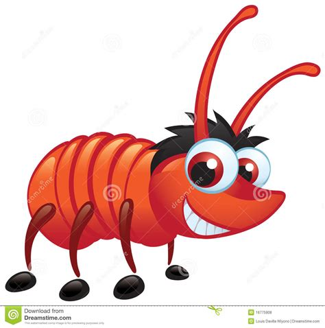 dream of bed bugs big red bug with a grin crawling stock vector image 16775908