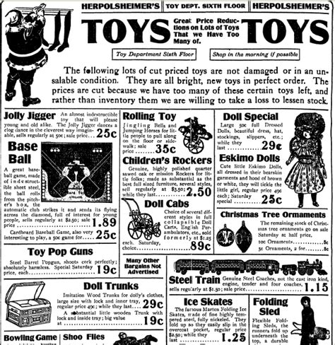 lincoln alabama newspaper toys gifts from yesteryear in newspaper ads