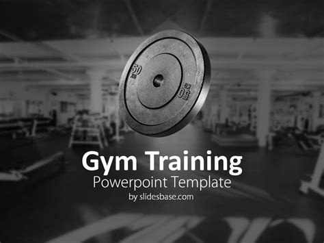 Gym Training Powerpoint Template Slidesbase Fitness Powerpoint Presentation Templates