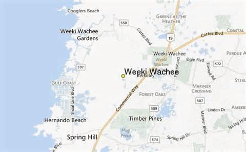 map of weeki wachee florida weeki wachee weather station record historical weather
