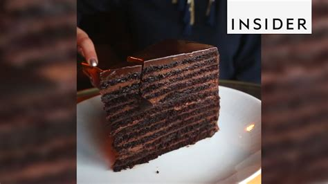 strip house 24 layer chocolate cake strip house in nyc makes 24 layer chocolate cake youtube