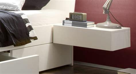 nachtkonsole zum aufhängen nachttisch zum einh 228 ngen praktische schlafzimmerl 246 sung