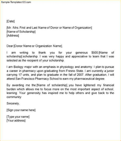 sle scholarship cover letter thank you letter resume sle 28 images thank you letter