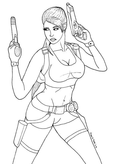 Desenhos Da Lara Croft Para Colorir Lara Coloring Pages