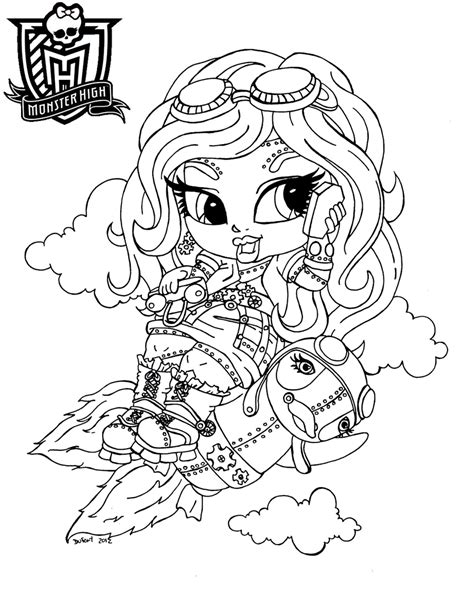 monster high coloring pages astranova dibujos para pintar de robecca steam