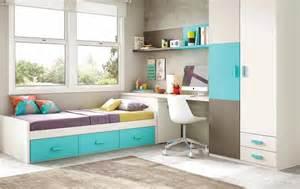chambre enfant garcon avec lit 3 coffres glicerio