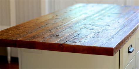 reclaimed wood countertops remodelaholic modernized bungalow kitchen renovation