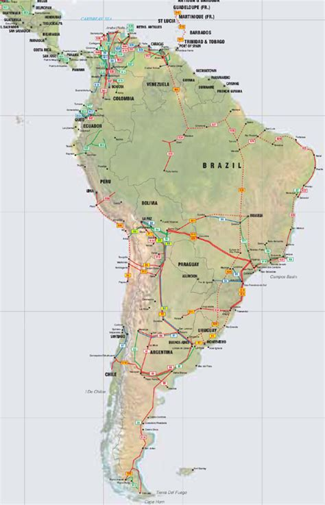 map of caribbean and south america central america caribbean and south america pipelines map