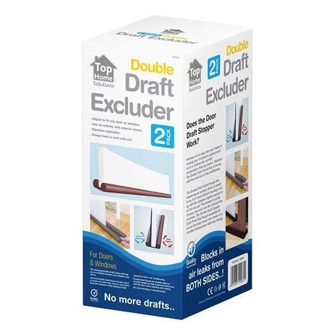 exterior door draft guard 2 pack sided draft guard draught excluder for