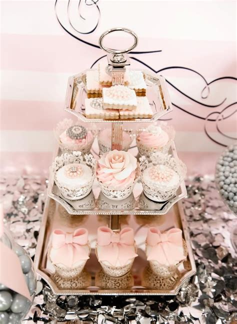 pink and silver table 747 best images about cupcakes on bow