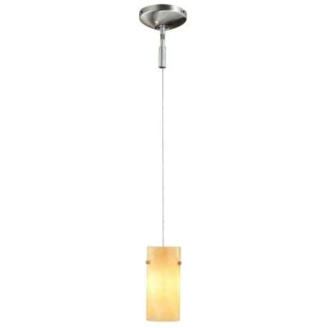 Hton Bay Lighting Fixtures Catalog Hton Bay 1 Light Brushed Steel Track Lighting Pendant Fixture Es729bax The Home Depot