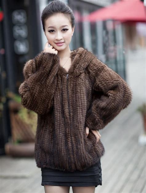 mink knitted jackets fur coats real fashion s coat 2017