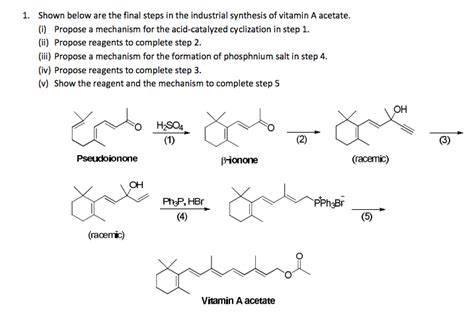 Vitamin A Asetat solved 1 shown below are the steps in the industri chegg