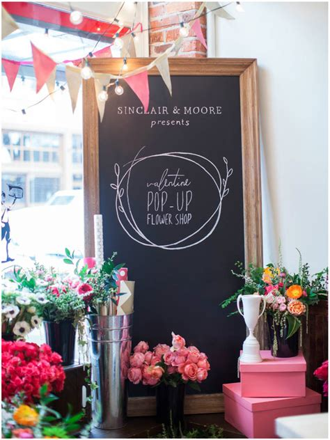 A Valentine S Day Pop Up Flower Shop At Gus Ruby | the moores pop up sinclair moore